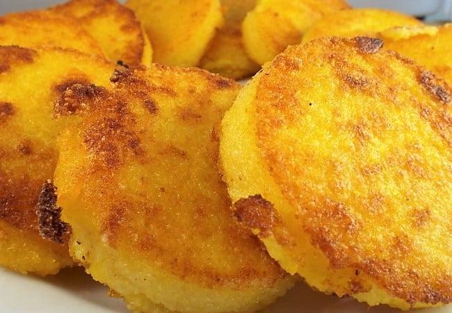 Crispy Polenta Cakes