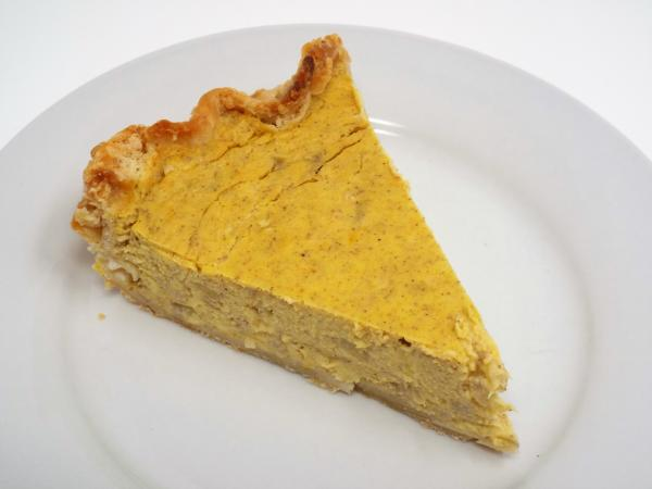 Banana Sweetened Pumpkin Pie Made From Scratch