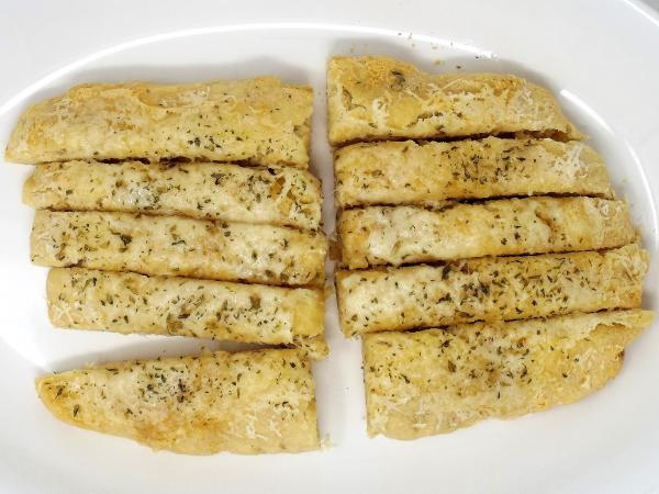 Garlic and Parmesan Bread Strips
