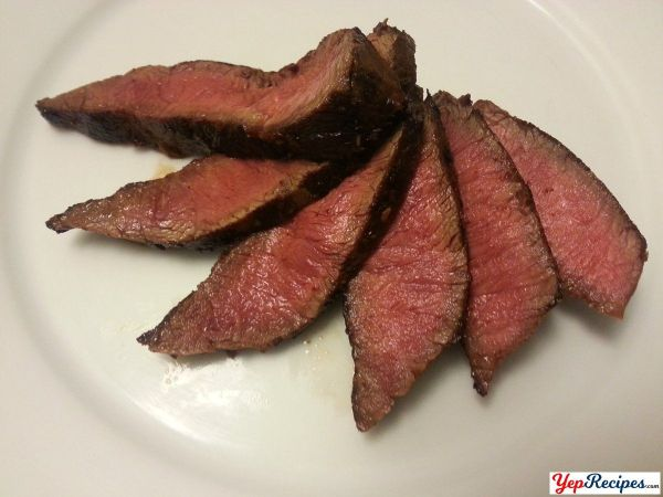 Pan Seared Cast Iron Flat Iron Steak