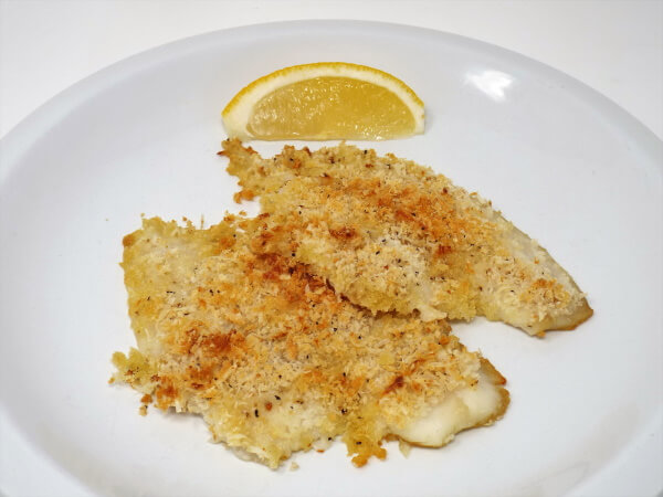 Parmesan and Garlic Baked Flounder