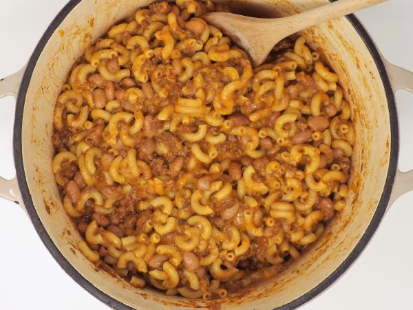 Ground Beef and Pinto Bean Chili Mac