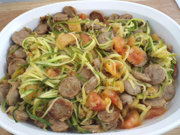 Sausage and Zoodles